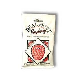 Unbranded Just Wholefoods Jelly Crystals - Raspberry - 85g
