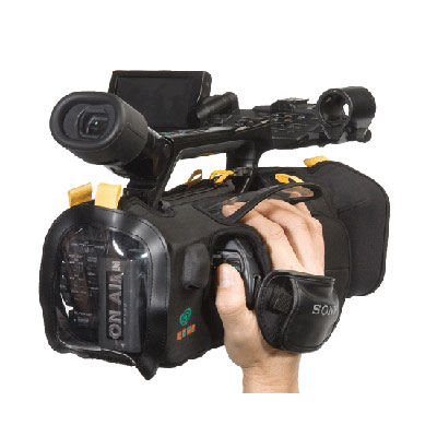 The Kata DVG-52 Camcorder Guard is fabricated from special semi-rigid closed cell foam and fabric la