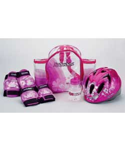Translucent fun pack with adjustable shoulder straps and side pockets.Size (H)27, (W)14, (D)34cm.Con