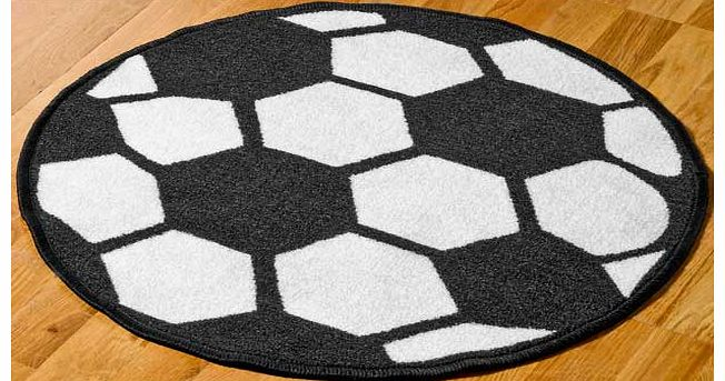A fantastic addition to any young football fans bedroom. this large classic football rug will compliment the bedroom. its also easy care and hard wearing. 100% nylon. Non-slip backing. Surface shampoo only. Size L67. W67cm.
