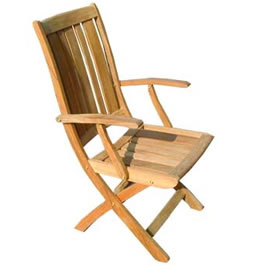 Designed especially to compliment the recliner these folding chairs have the same contoured seat