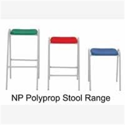 KM Furniture Polypropylene StoolHardwearing stool with a powder coated steel frame and washable