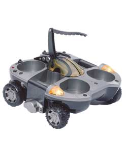 This all terrain land and water stunt machine tran