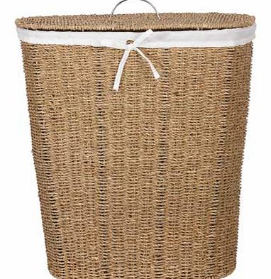 Made from natural seagrass for a stylish. contemporary finish. this linen bin will perfectly compliment the modern bathroom. Ideal for keeping your laundry stored away in a discreet place before washing day. 20% cotton / 80% polyester liner. Capacity