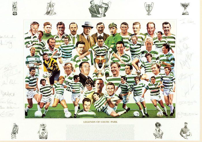 `Legends of Celtic Park` by Rob Highton - a limited edition of 1967 prints signed by Billy McNeil