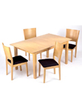 The Liberty is an excellent wooden beech dining set featuring an extendable butterflytable and 4