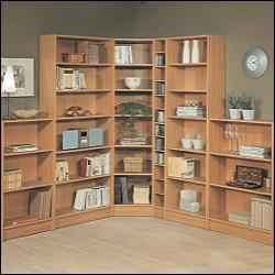 "BEECH EFFECT ""LIBRARY"" BOOKCASE RANGE - A feature-"