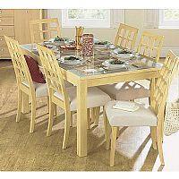 Beech or Dark Oak effect table and chairs with a s