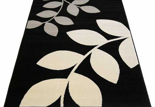 Fantastic value leaf design rug. woven in a durable polypropylene pile. Suitable for all areas of the home. Also suitable for surface shampoo clean. 100% polypropylene. Woven backing. Size L150. W80cm.