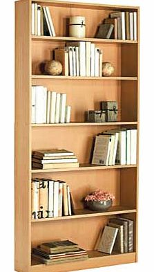 This Maine bookcase comes in a stylish beech effect finish. The tall. wide design is perfect for giving you a large amount of storage space for your home. Part of the Maine collection Size H180. W78. D20cm. 1 fixed shelf and 4 adjustable shelves. Wei