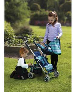 63 to 67cm adjustable height folding pushchair.Rem