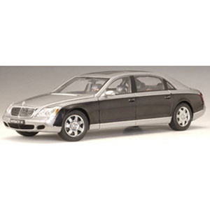Unbranded Maybach 62 LWB 2005- grey/black 1:18
