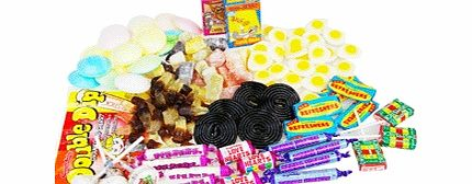 Enjoy working your way through this variety of timeless goodies, including parma violets, fried eggs, flying saucers and candy sticks. They say the way to someone™s heart is through the stomach and with this array of sugary goods; it is bound to find