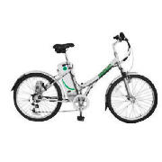 The Meerkat Metro electric bike comes in bright metallic silver with a steel frame. The metro featur