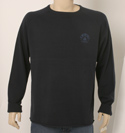 Mens Blue Guru Cool Charcoal Round Neck Knitted Sw