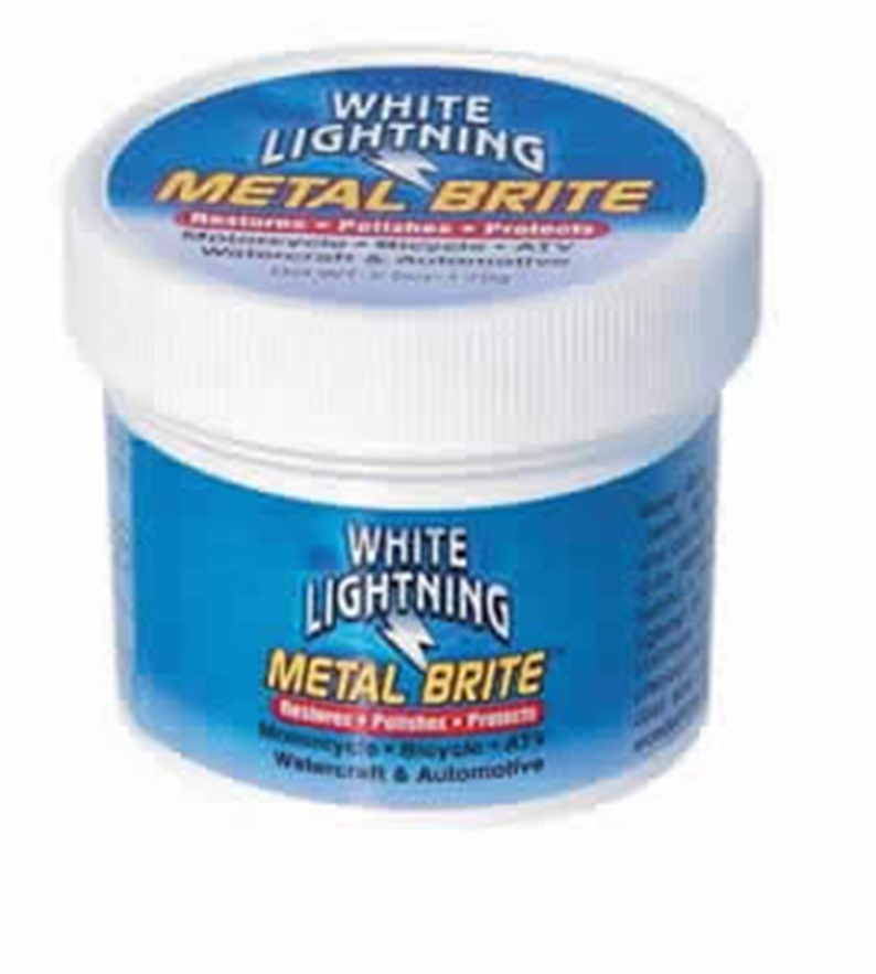 METAL BRITE IS A TECHNICALLY ADVANCED NON-TOXIC METAL POLISH AND FINISHING CREAM. IT RAPIDLY