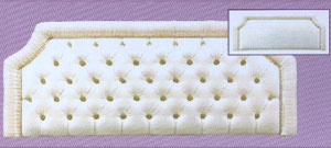 The Millbrook hand pleated headboard Collection of