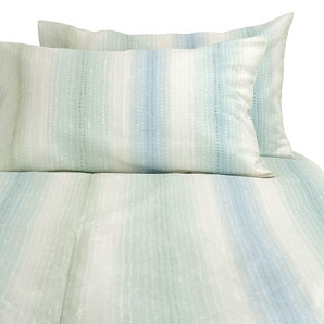 John Lewis Double Aqua 100% cotton duvet cover Mineral Stripe Duvet cover