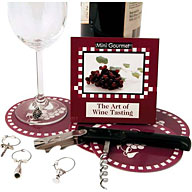 This kit offers an ideal introduction to the art of wine tasting. The box contains a chunky bottle-o