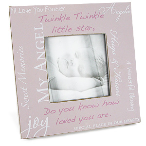 Unbranded Moments Rustic Baby Girl Photo Frame