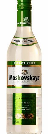 Translated as Special Muscovite™, this Russian vodka is produced from selected rye grain for a natural sweetness. Production dates back to the communist era. This triple distilled, charcoal filtered vodka is both smooth and authentic.