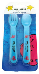 Baby Feeding Products - Mr Messy Fork & Spoon Set