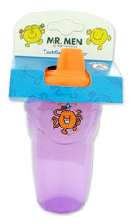 Toddler Beaker and Lid from the Mr Men TV series, this one is Mr Tickle