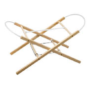 This Natural coloured Moses stand will hold a Moses basket or a carry cot with a minimum base measur