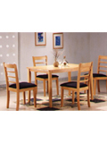 The Newport Dining Set islovely  populardining set and great value too! The wooden beechtable comes