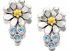 Charming, hand crafted 10 x 16mm daisy earrings - add the triple ball chain drops for an instant second style - see 100807. Winning Designers @ F.Hinds piece, exclusively available until the end of 2013.