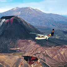 Soar over the azure crater lakes and jagged mountains of Tongariro National Park World Heritage Site