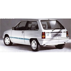 Unbranded Opel Corsa 1986 White Steffi Graf Special