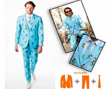 Opposuits Tulips from Amsterdam DesignAmsterdam and the Netherlands are, amongst other things, famous for their Tulips and this Opposuit simply celebrates their greatest (legal) export!If you need a statement suit then this OppoSuit with Tulip design