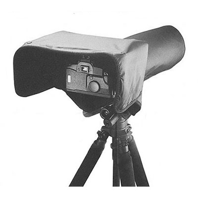 Protects cameras and motor drives with large lenses when working in inclement weather