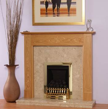 Option Natural Oak Fireplace Package