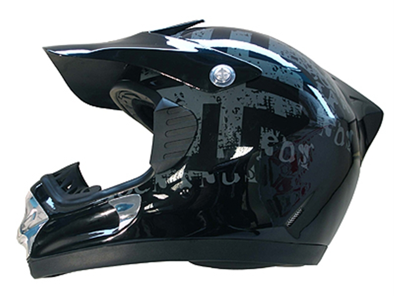 All new moto style helmet for 2006 with wrap around groove which prevents goggles from slipping,