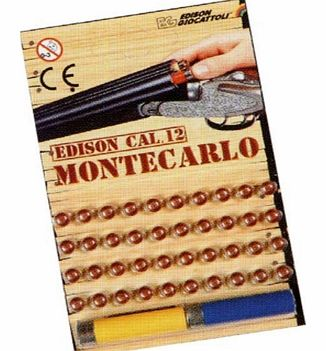 This pack contains 40 caps and 2 cartridges for use with the Edison Monte Carlo Double Barrel Toy Shotgun. Please see below for Toy Shotgun details.