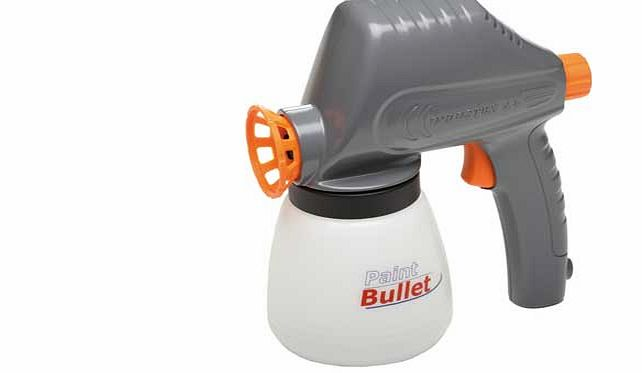 Paint Bullet puts the power of a professional sprayer in the palm of your hand. with the speed and power you need to tackle any painting project in record time. The fast. easy and fun way to paint. giving you the best of an air sprayer in a compact.
