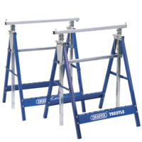 Telescopic action with height adjusting locking bars. Dual locking safety arms and folding support