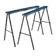 This pair of Draper Trestles folding tables is designed to support large work pieces. These trestles