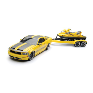Unbranded Parotech Mustang and Jetski - Yellow/black 1:18