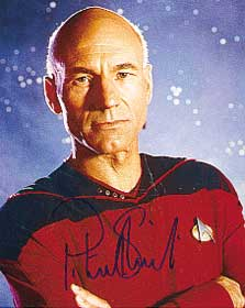signed patrick stewart star trek photo