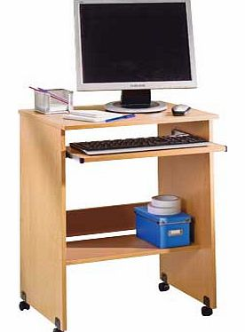 This Argos Value Range trolley. in a beech-effect finish. provides a compact work station ideal for your home office or bedroom. Featuring a sliding keyboard shelf and castors for easy manoeuvrability. this versatile PC trolley fits neatly wherever y