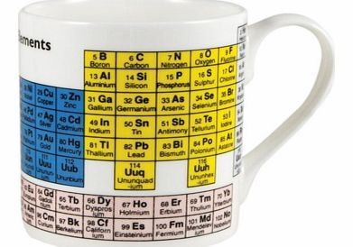 Periodic Table MugChemistry and a cuppa, what a great combination! This bone china mug is white with the periodic table printed on it. It gives you the opportunity to recharge your batteries on your next break with a lovely mug of tea or coffee, but
