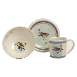 Peter Rabbit 3 piece porcelain gift set made by We