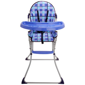 An excellent value highchair in an attractive blue