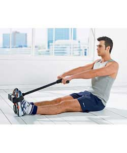 Aerobic conditioning as well as strength training.Strengthens back, tightens abs, and firms