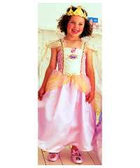 Childrens Dressing Up Clothes - Pink Barbie Princess & Pauper Outfit - 4-7 years
