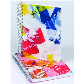 Unbranded Plastic Bag Wire Bound Note Books  A5