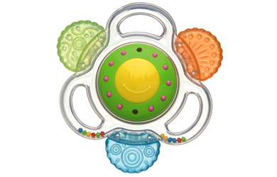 Lights, music and water teethers!